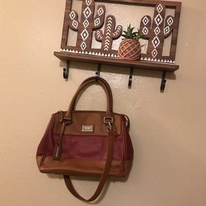 Tignanello burgundy handbag